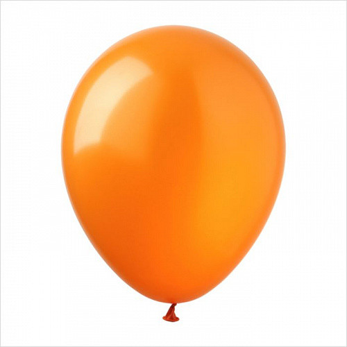 "Шар 12"" (30 см), оранжевые, металлик"