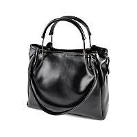 Черная женская сумка с двойными ручками М164-Z, фото 1