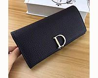 Женский кожаный кошелек встиле Dior (D514) black