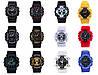Спортивные мужские наручные часы годинник Casio G-Shock ga-100 Black-White Касио черно-белые реплика, фото 6