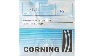 Линза для очков CORNING АСТИГМАТИКА  минеральная фотохромная(Франция)