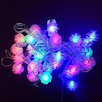 Гирлянда Шишки раскрытые LED 28 мульти (1-124), фото 1