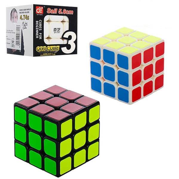 Швидкісний кубик рубика QiYi Cube Sail 5.6 Cube 3x3x3 Білий, Чорний