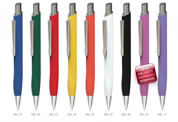 Ручка шариковая металлическая Prestige KOBI LUX, ассорти
