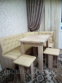 Кухонный уголок Адмирал с раскладным столом и табуретами