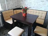 Кухонный уголок Маршал с раскладным столом и табуретами