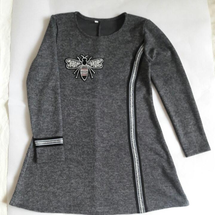 Стильное платье туника для девочки подростка Муха