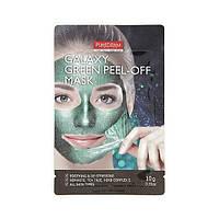 Успокаивающая и снимающая стресс маска-пилинг Purederm Galaxy Green Peel-off Mask