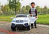 Детский Электромобиль Джип М 2392 BMW белый на аммортизаторах и радиоуправлении, открываются двери, фото 3