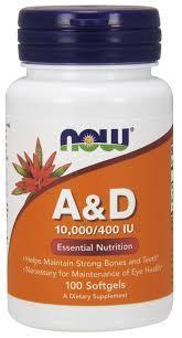 NOW_Vitamin A & D 10,000/400 IU - 100 софт кап