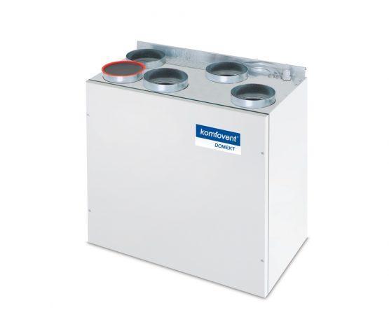 Енергоефективна та низькошумна  вентиляційна установка з роторним рекуператором Domekt R 200 V