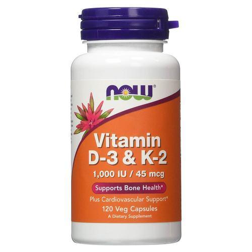 NOW Vitamin D-3 & K-2 1,000 IU/45 мкг - 120 веган кап