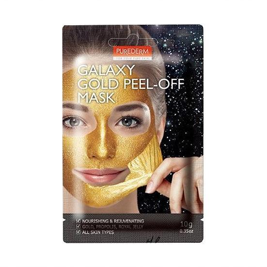 Питающая и омолаживающая маска-пилинг Purederm Galaxy Gold Peel-off Mask