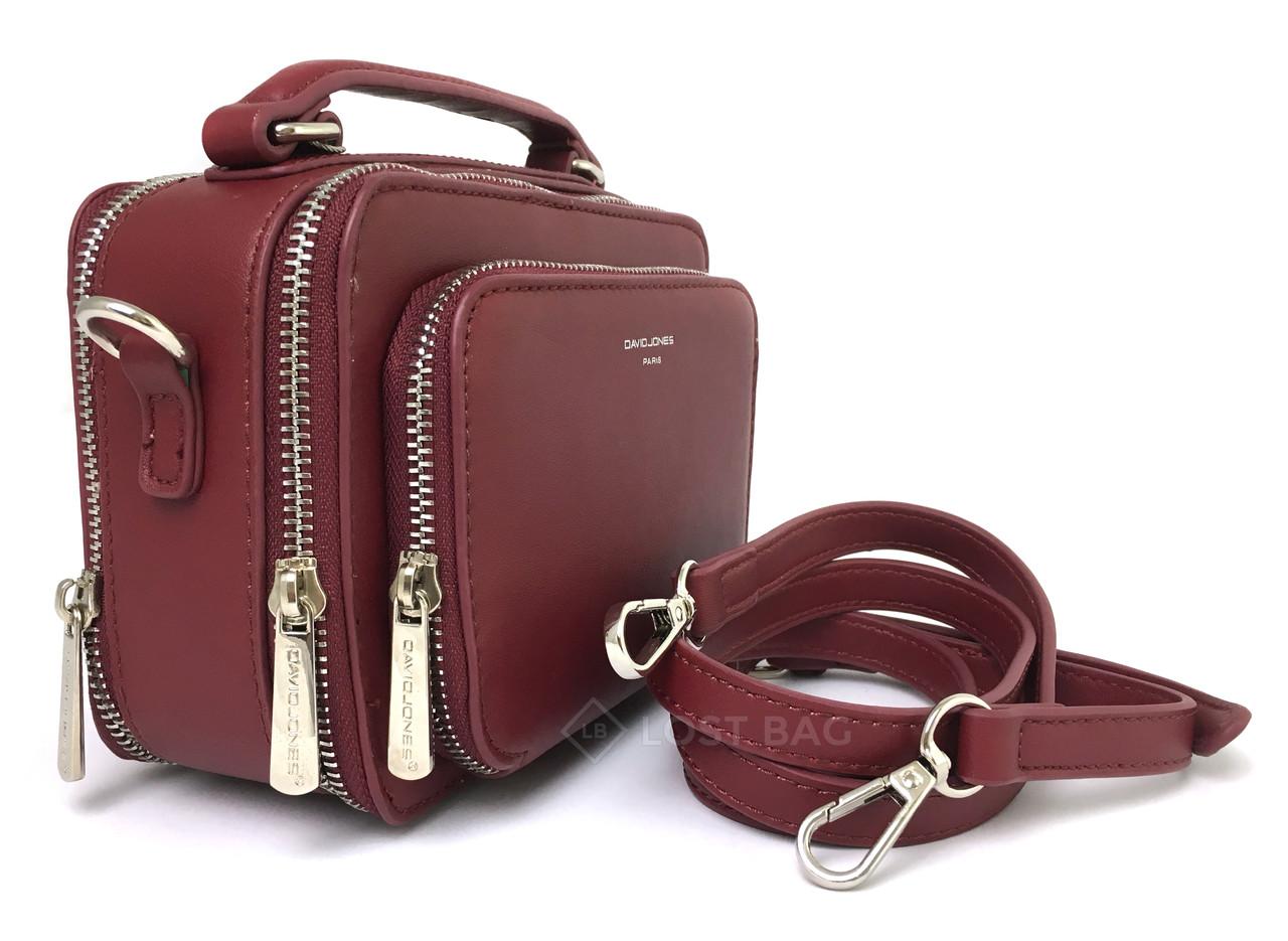 Женская сумка кросс-боди David Jones CM3966 Красная