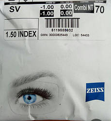 Линза для очков Zeiss Combi NT 70