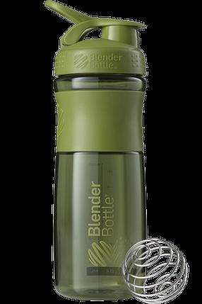 Спортивная бутылка-шейкер BlenderBottle SportMixer 820ml Moss Green (ORIGINAL), фото 2