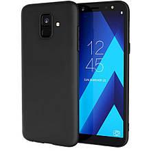 """Накладка силиконовая Ou case """"Super slim lovely"""" для Samsung A6+ 2018. Чёрный"""