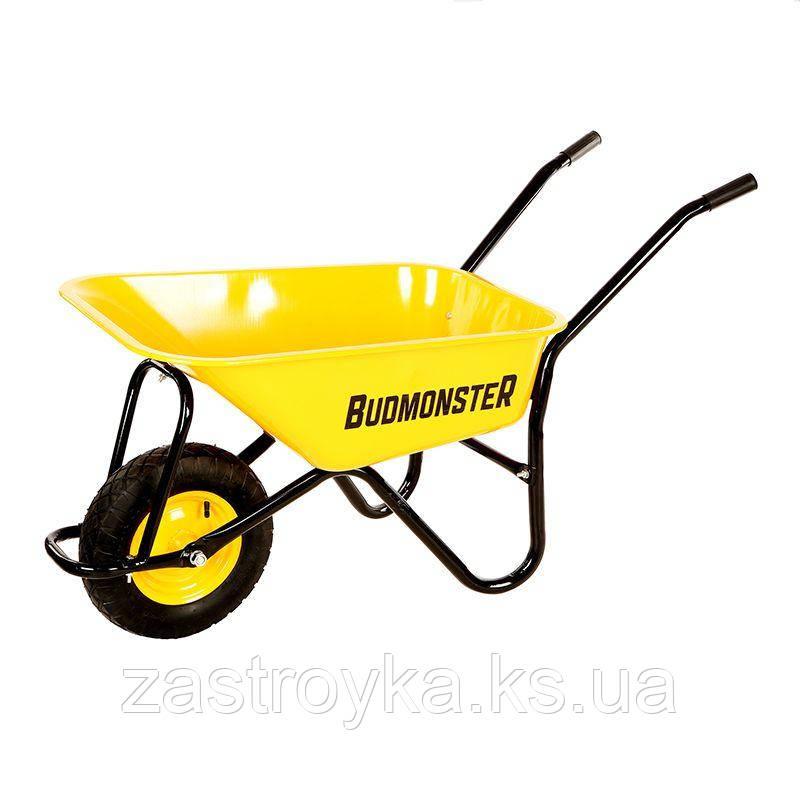 Тачка будівельна BudMonster, 80 л, вантажопідйомність 200 кг