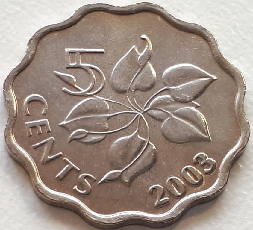 Свазиленд 5 центов 2003