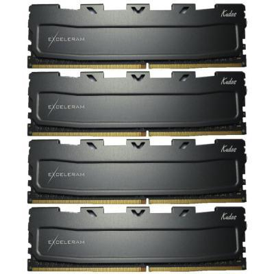 Модуль памяти для компьютера DDR4 16GB (4x4GB) 2400 MHz Black Kudos eXceleram (EKBLACK4162415AQ)