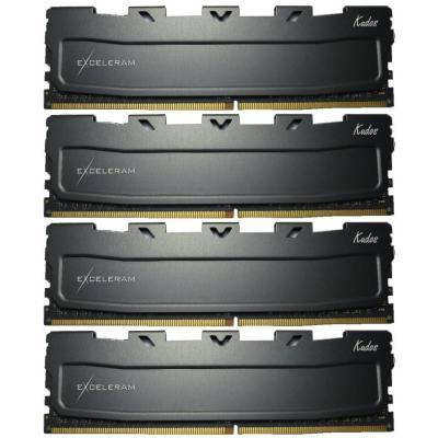 Модуль памяти для компьютера DDR4 16GB (4x4GB) 2400 MHz Black Kudos eXceleram (EKBLACK4162415AQ), фото 2
