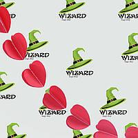 Гирлянда бумажная 3D Сердечки (красный)
