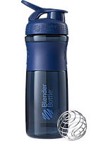 Спортивная бутылка-шейкер BlenderBottle SportMixer 820ml Navy (ORIGINAL) , фото 1