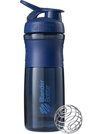 Спортивная бутылка-шейкер BlenderBottle SportMixer 820ml Navy (ORIGINAL) , фото 2