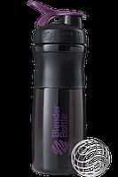 Спортивная бутылка-шейкер BlenderBottle SportMixer 820ml Black/Plum (ORIGINAL) , фото 1