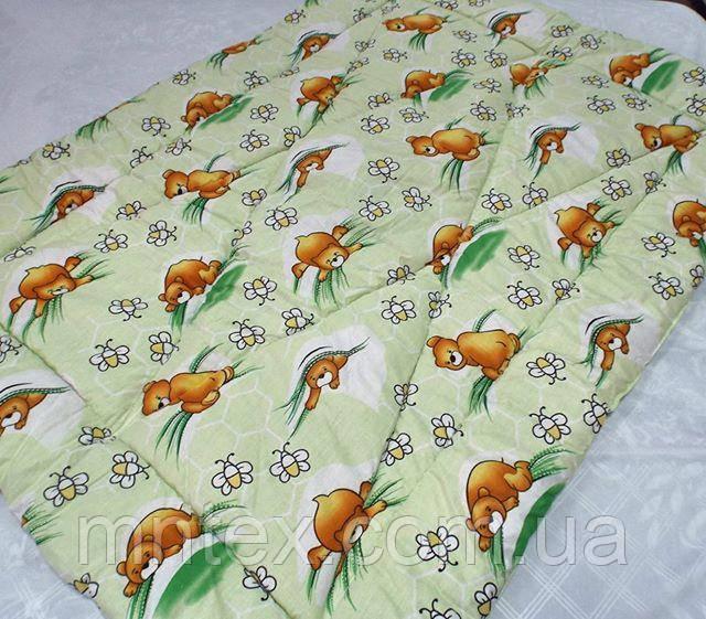 Одеяло стеганое чистая шерсть бязь Голд Мишки