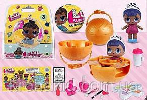 Большой желтый шар ЛОЛ в блистере / Большая кукла LOL15 см / LOL Surpise / аналог, фото 2