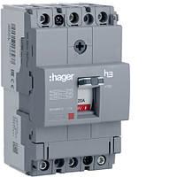 Выключатель автоматический 3p, 20А, 18kA (HDA020L) Hager