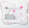 """Подушка """"Бабочка"""" 30х25 см ортопедическая для новорожденных верх 100% хлопок 4060 Розовый 10"""