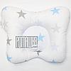 """Подушка """"Бабочка"""" 30х25 см ортопедическая для новорожденных верх 100% хлопок 4060 Голубой 3"""