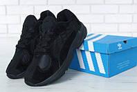 """Кроссовки мужские замшевые Adidas Yung 1 """"Черные"""" р. 41-45, фото 1"""