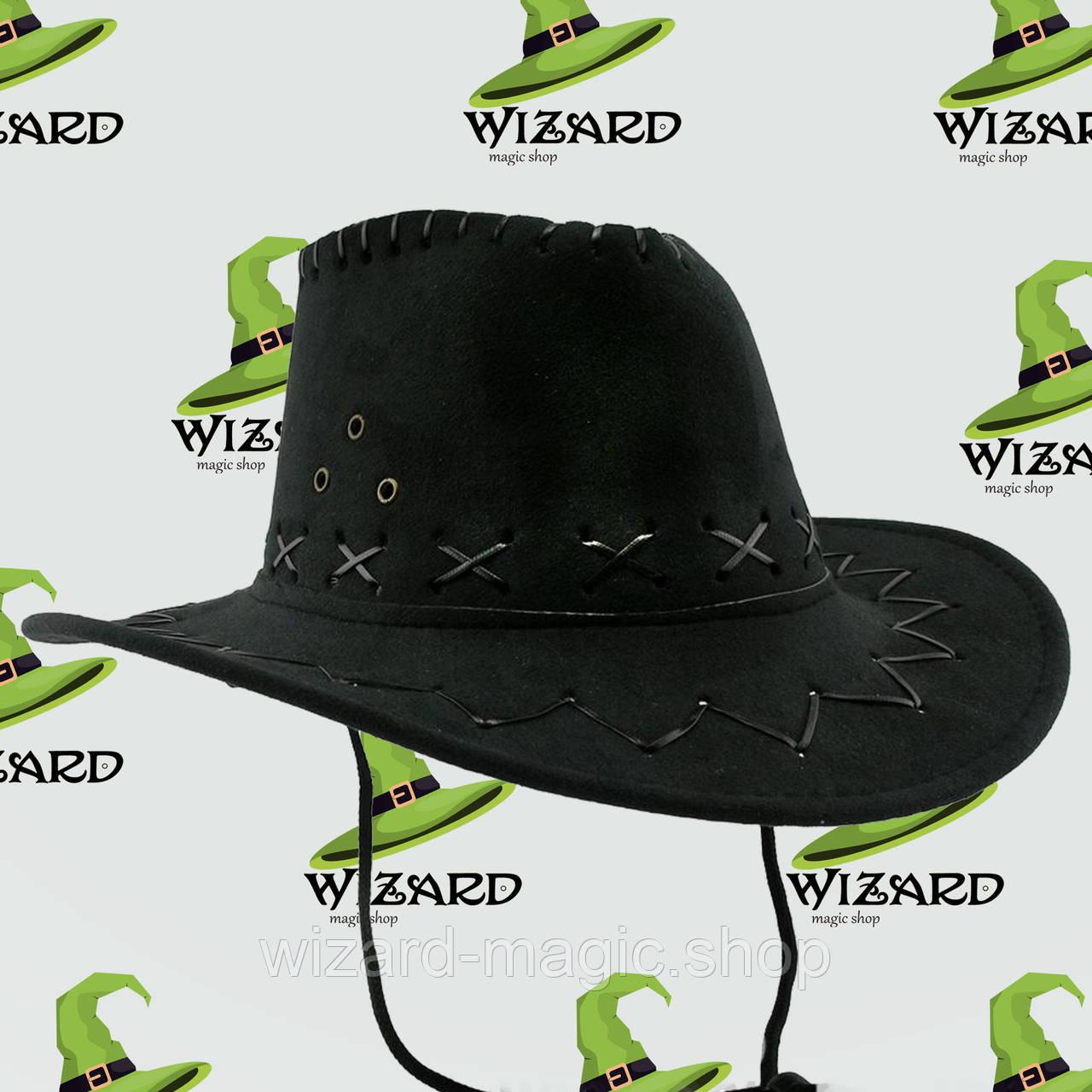 Шляпа детская Ковбой (черная)