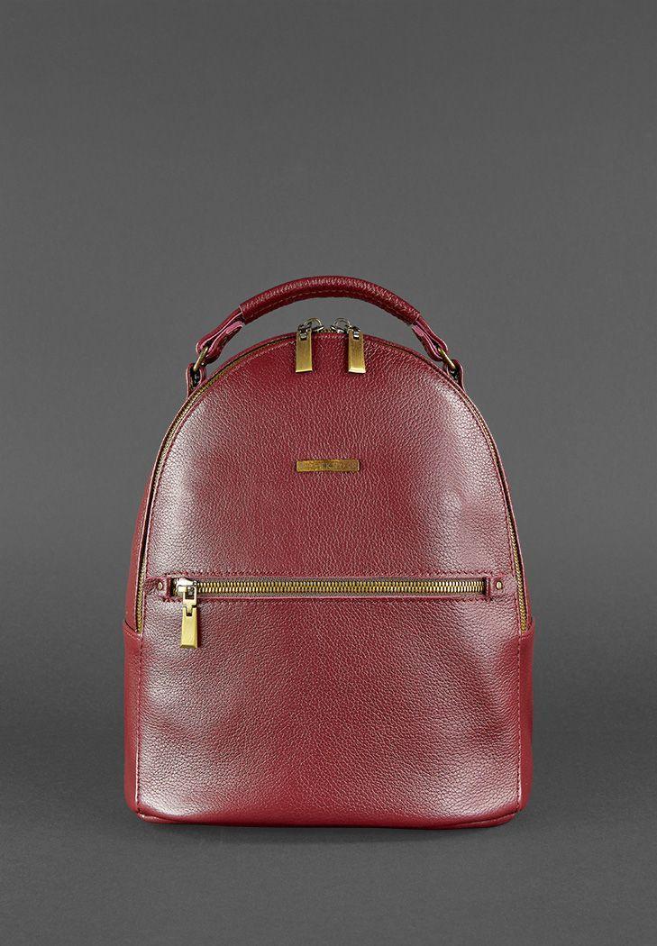 """Міні-рюкзак жіночий міський шкіряний """"KYLIE"""". Колір бордовий"""