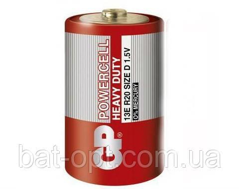 Батарейка солевая GP 13Е-S2 Powercell R20 D (трей)