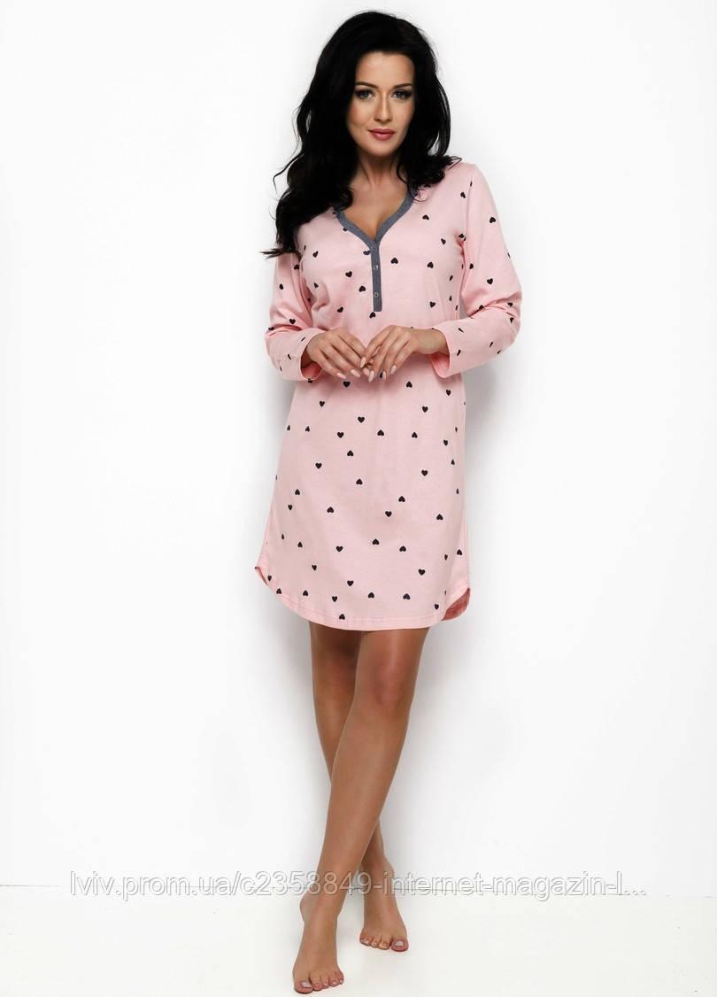 4202080f0fa Ночная рубашка женская Nika 2228 от TM Taro (Польша) Цвет розовый -  Интернет-