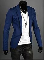 Стильный мужской блейзер классический  «RoyalB»(Синий)