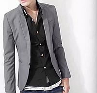 Стильный мужской блейзер классика серый «Gray»
