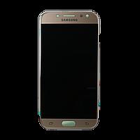 Дисплей (экран) для Samsung J530 Galaxy J5 (2017) + тачскрин, золотистый, без регулировки яркости