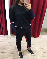 Костюм спортивный женский черный, фото 2