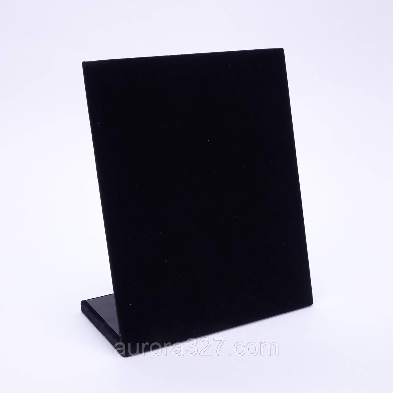 """Стойка планшет """"Под пусеты черный бархат 30 пар 24 х 20 х 10,5 см"""""""