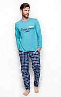 Пижама TARO 2257 MARIUSZ AW18, размер М, хлопок, Польша мужские пижамы, пижама,  M; , M бирюзовый,  бирюзовый