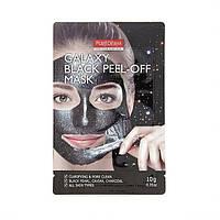 Очищающая поры маска-пилинг Purederm Galaxy Black Peel-off Mask