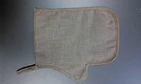 Массажная рукавица из натурального льна