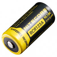 Аккумулятор литиевый Li-Ion CR123A Nitecore NL166 3.7V (650mAh), защищенный (6-1022)