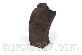 """Бюст ювелірний """"Оксамит коричневий h=29 см"""""""