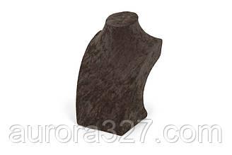 """Бюст ювелірний """"Оксамит коричневий h=19,5 см"""""""
